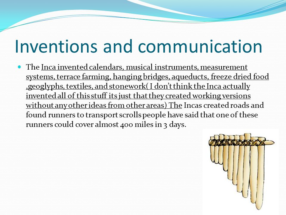 Inventions and communication