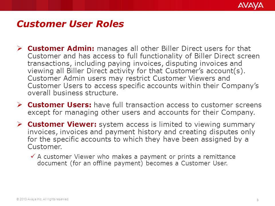 Customer User Roles