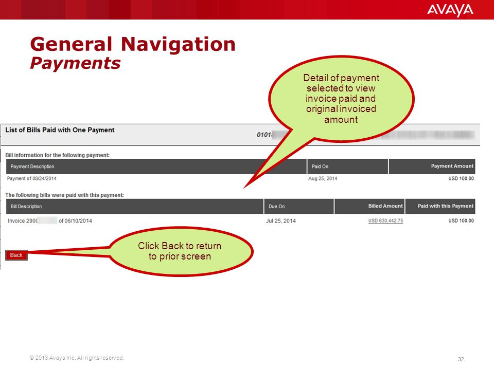 General Navigation Payments
