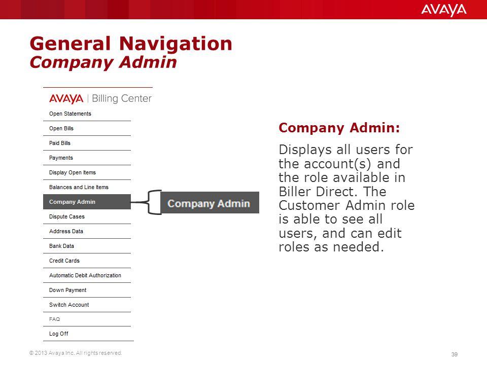 General Navigation Company Admin