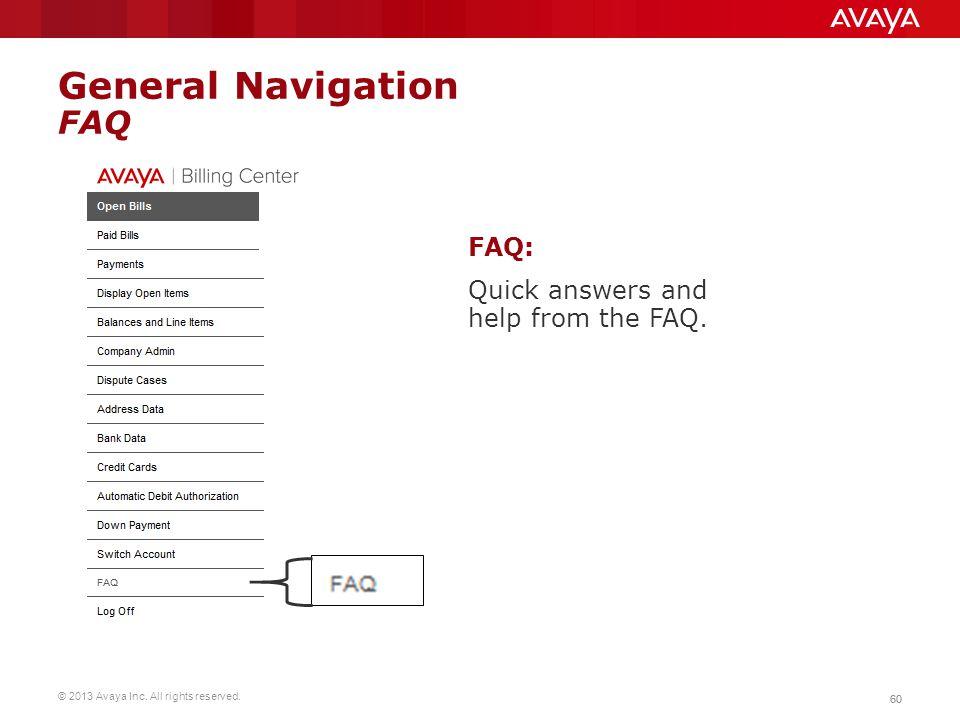 General Navigation FAQ