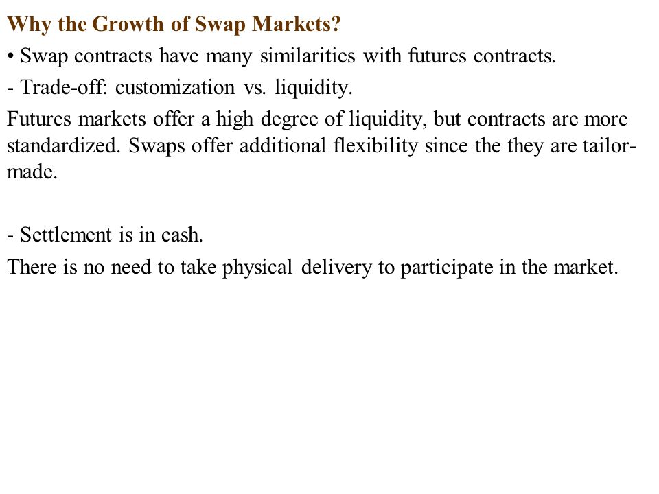 Why the Growth of Swap Markets