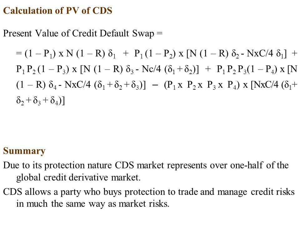 Calculation of PV of CDS