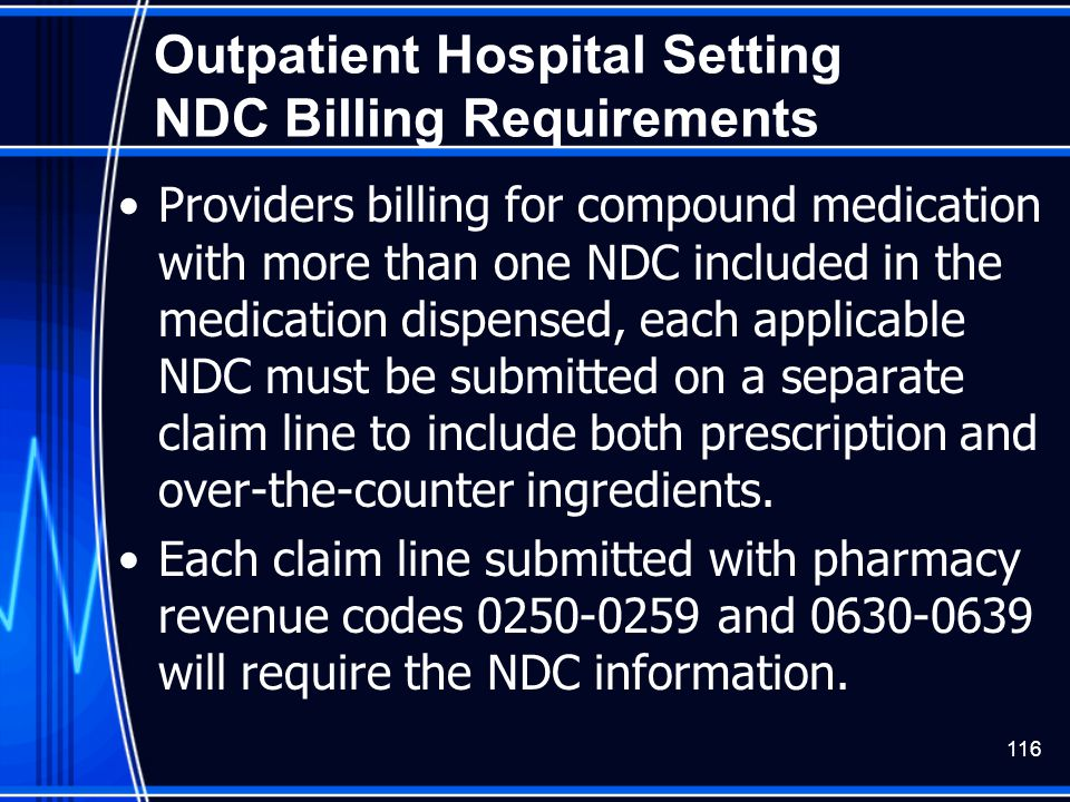 Outpatient Hospital Setting NDC Billing Requirements