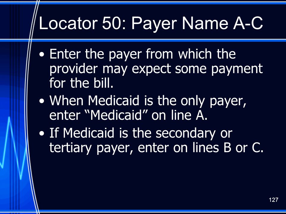 Locator 50: Payer Name A-C