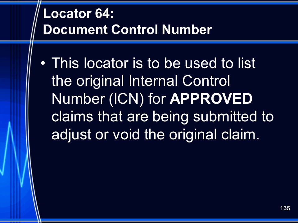 Locator 64: Document Control Number