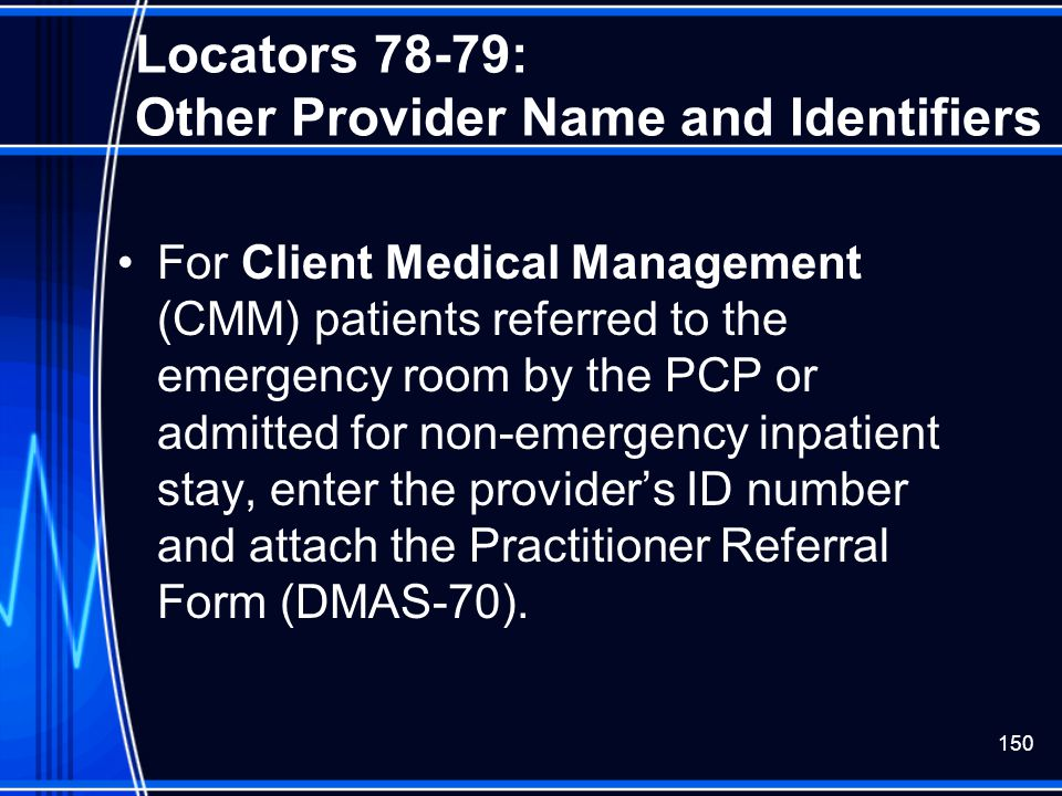 Locators 78-79: Other Provider Name and Identifiers