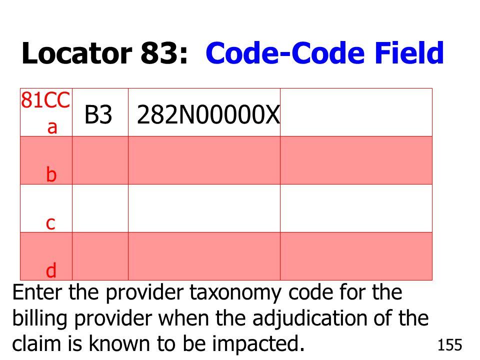 Locator 83: Code-Code Field