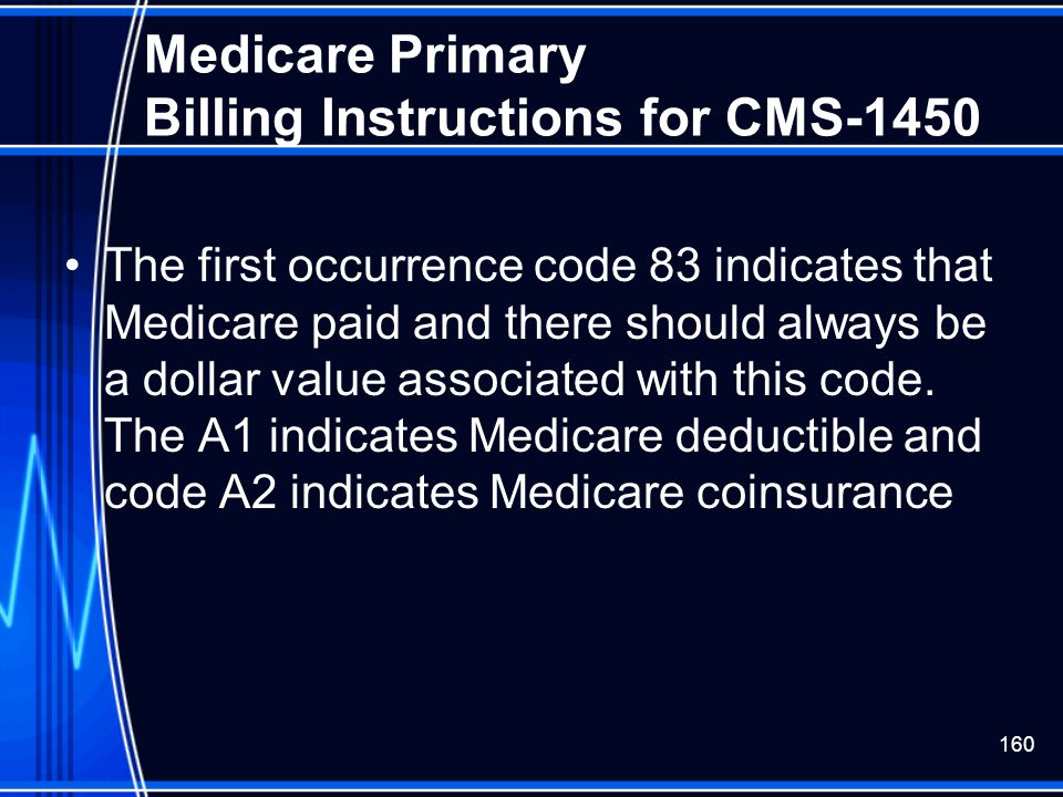 Medicare Primary Billing Instructions for CMS-1450