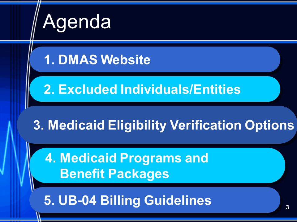 Agenda 1. DMAS Website 2. Excluded Individuals/Entities