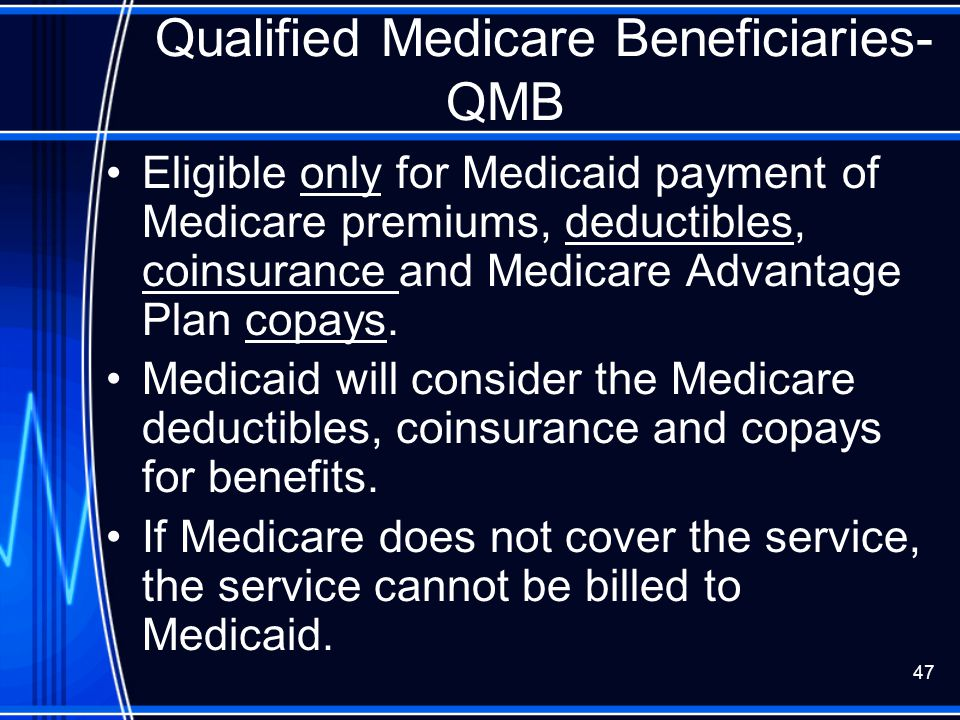 Qualified Medicare Beneficiaries- QMB