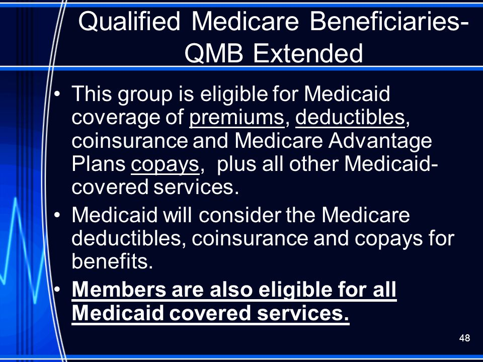 Qualified Medicare Beneficiaries- QMB Extended