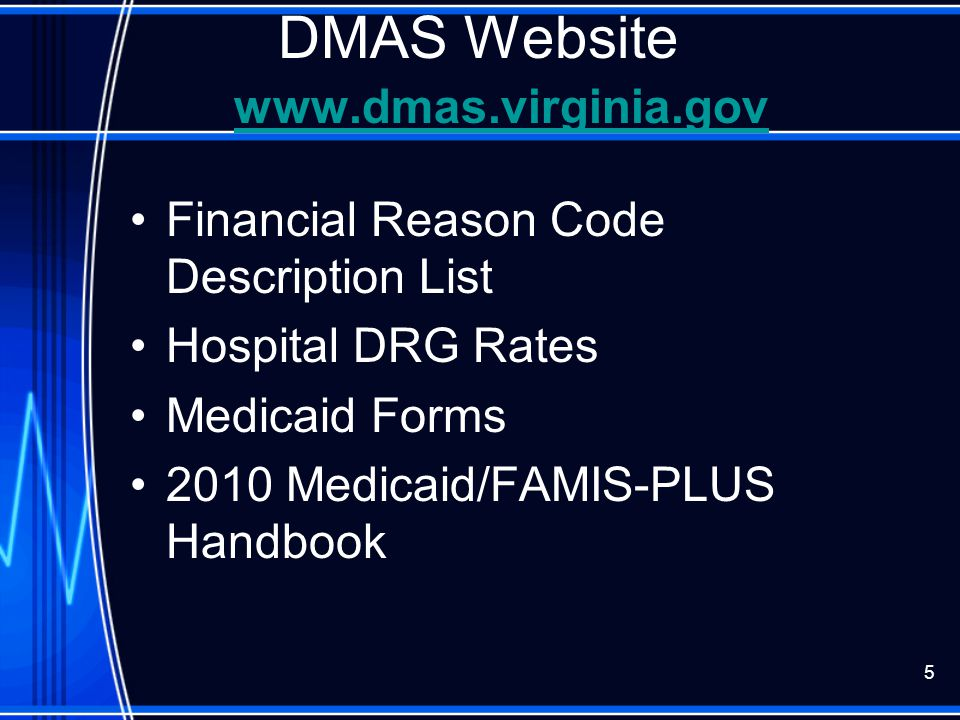 DMAS Website www.dmas.virginia.gov