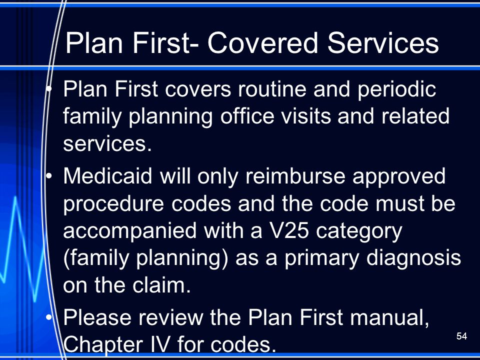 Plan First- Covered Services