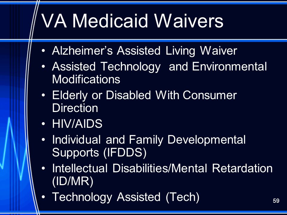 VA Medicaid Waivers Alzheimer's Assisted Living Waiver