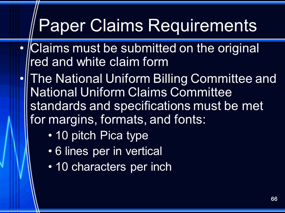 Paper Claims Requirements