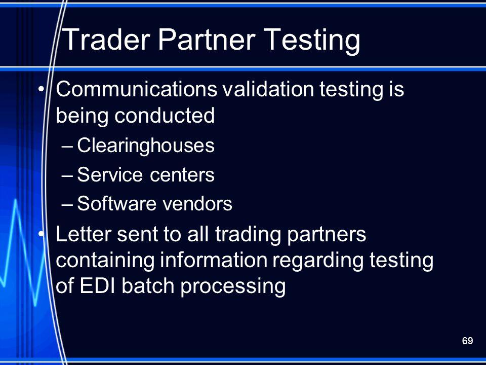 Trader Partner Testing
