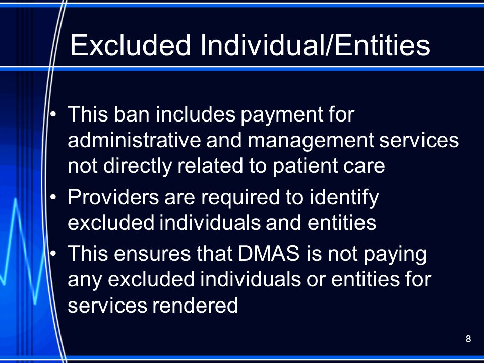 Excluded Individual/Entities
