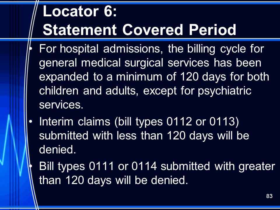 Locator 6: Statement Covered Period