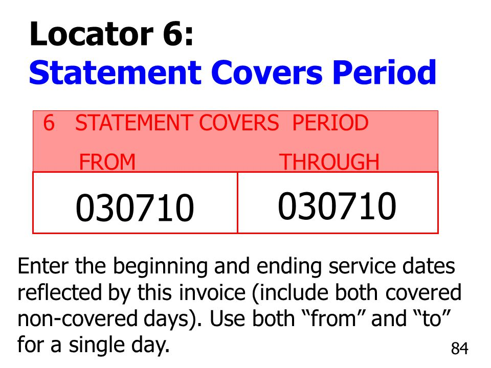 030710 030710 Locator 6: Statement Covers Period