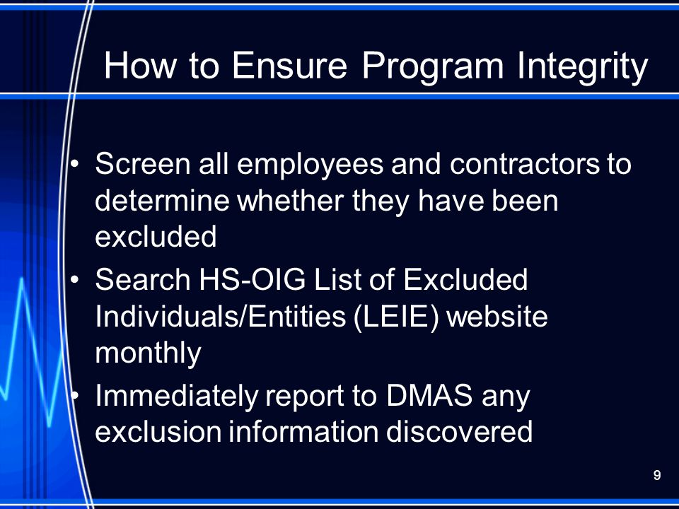 How to Ensure Program Integrity
