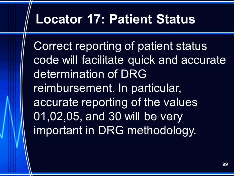 Locator 17: Patient Status