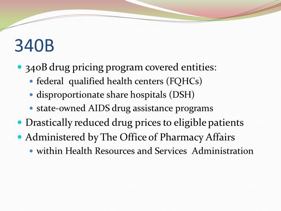 340B 340B drug pricing program covered entities: