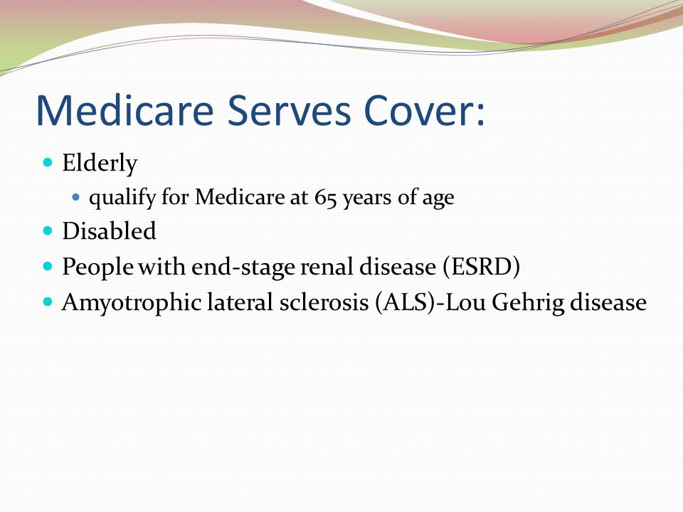 Medicare Serves Cover: