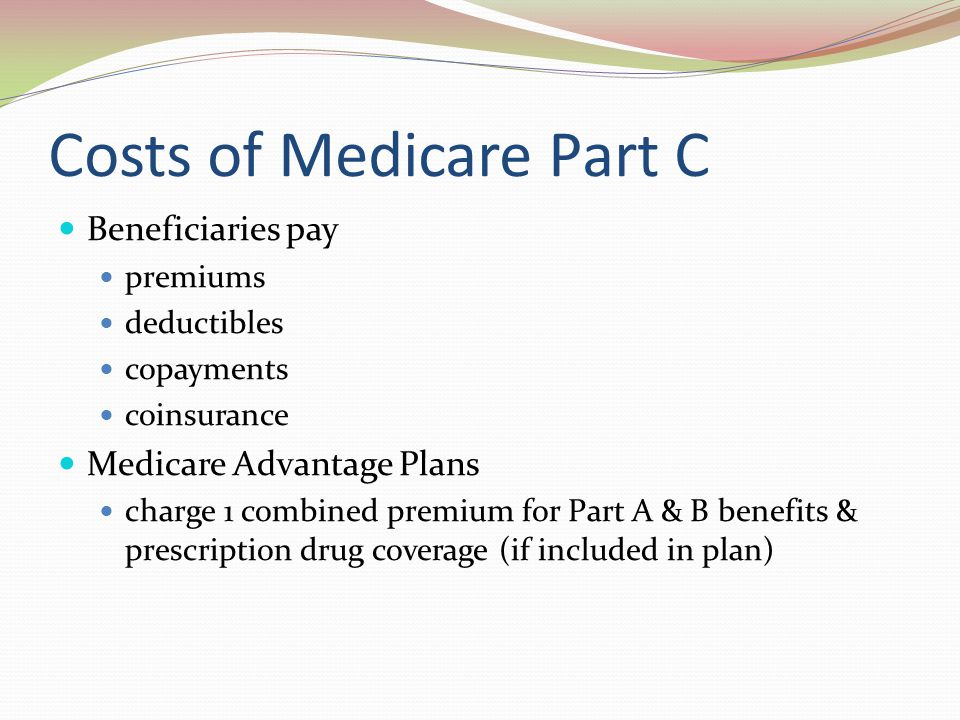 Costs of Medicare Part C