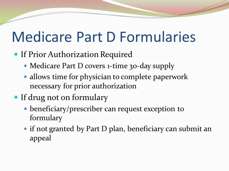 Medicare Part D Formularies