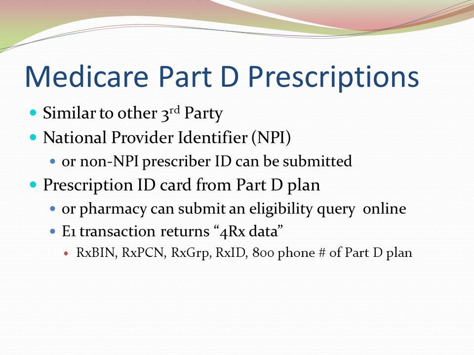 Medicare Part D Prescriptions