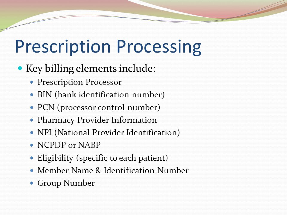 Prescription Processing
