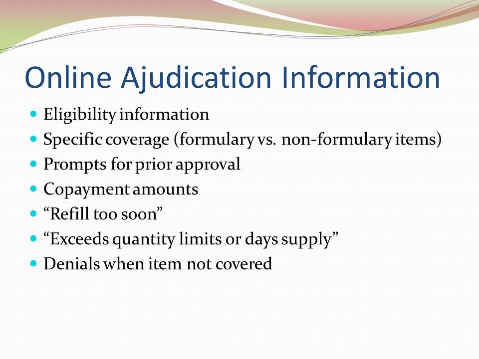 Online Ajudication Information