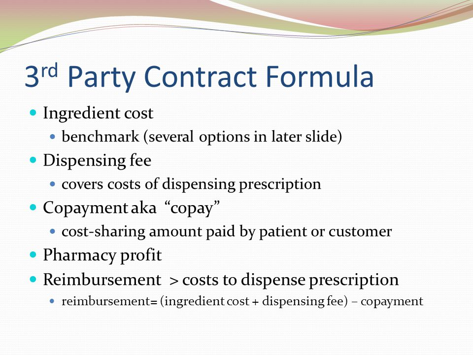 3rd Party Contract Formula