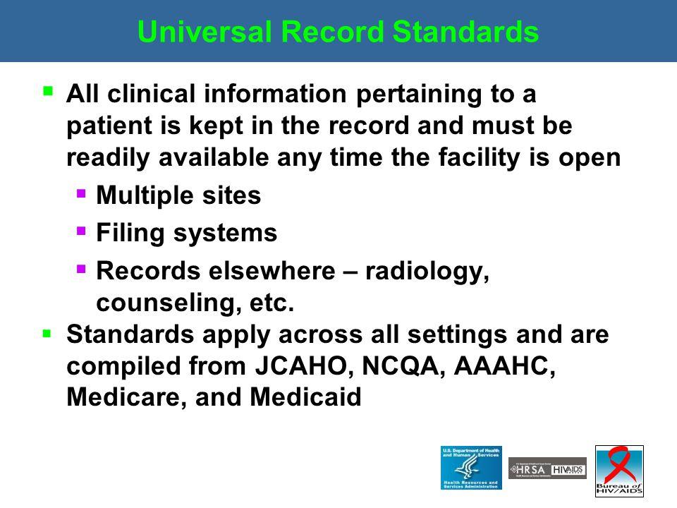 Universal Record Standards