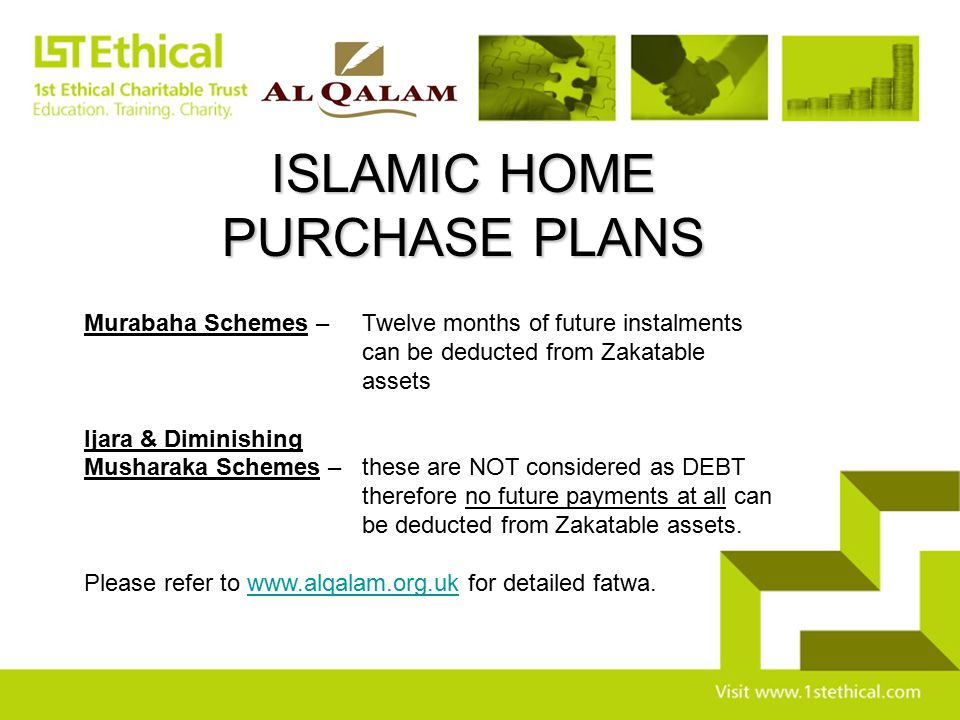 ISLAMIC HOME PURCHASE PLANS