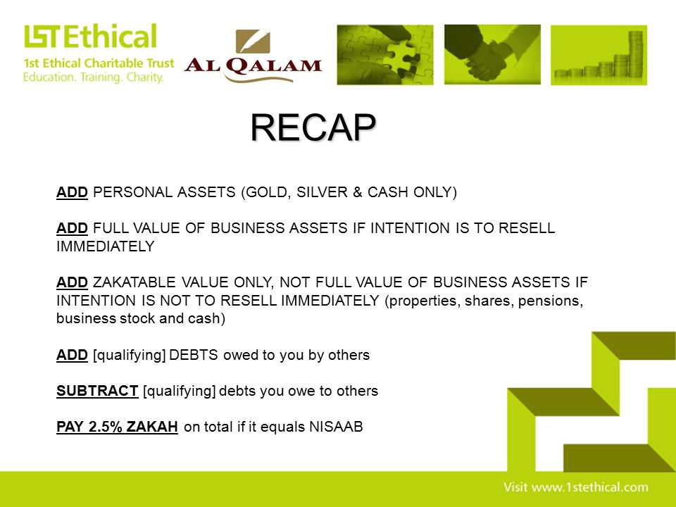 RECAP ADD PERSONAL ASSETS (GOLD, SILVER & CASH ONLY)