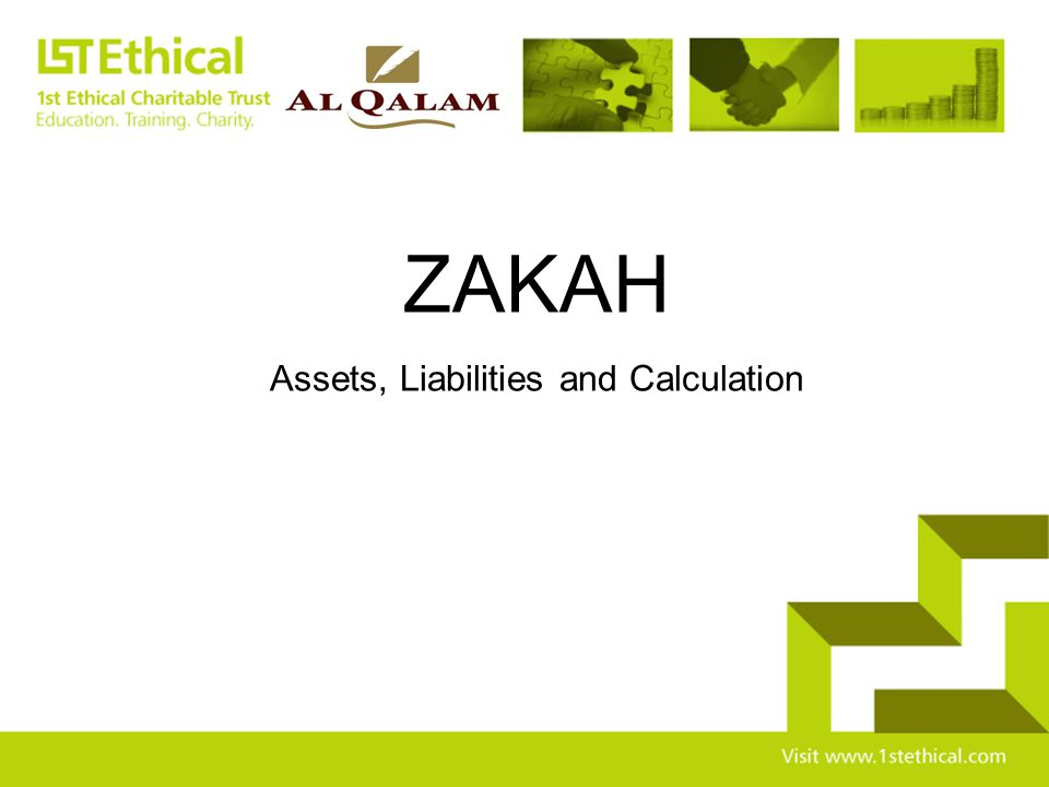Assets, Liabilities and Calculation