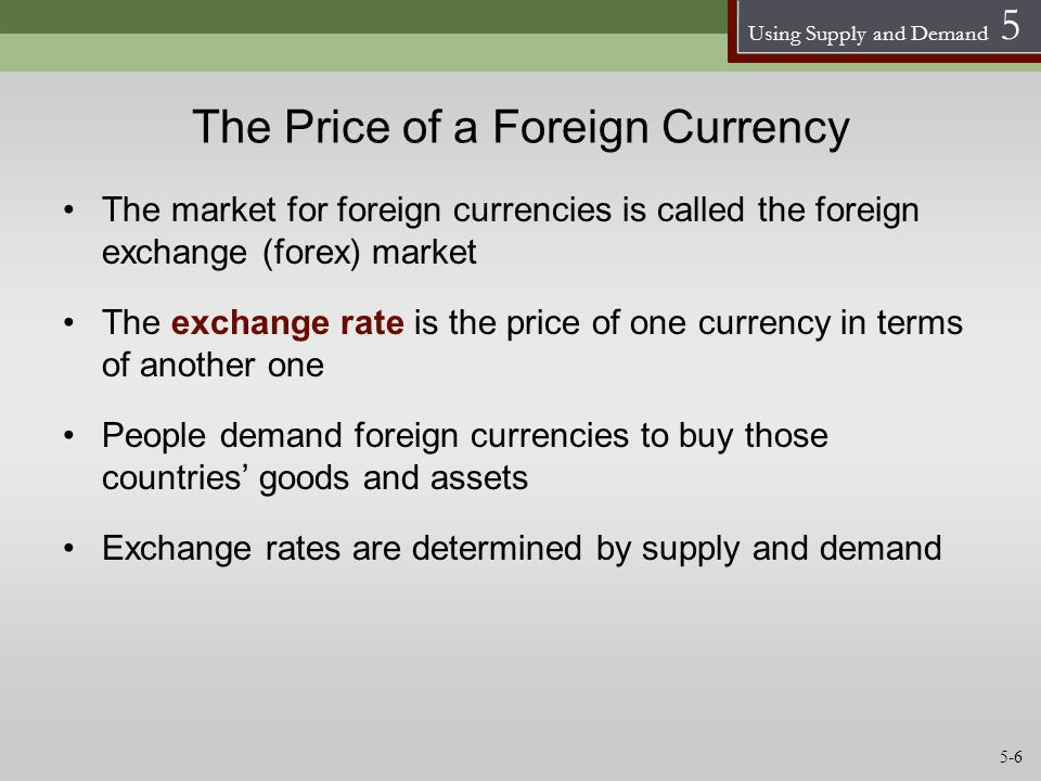 The Price of a Foreign Currency