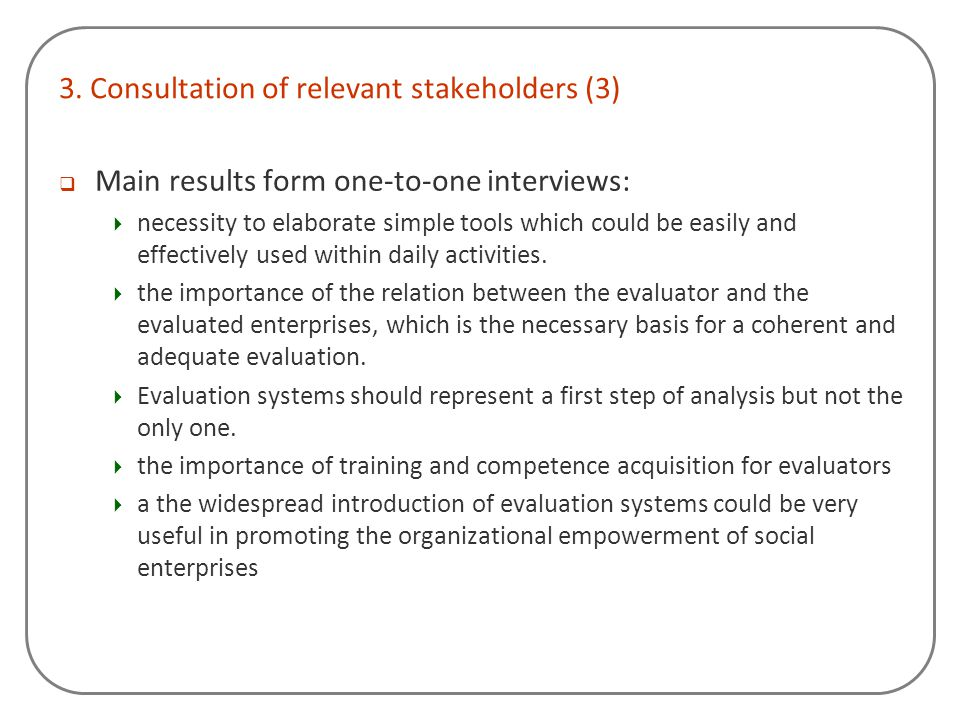 3. Consultation of relevant stakeholders (3)