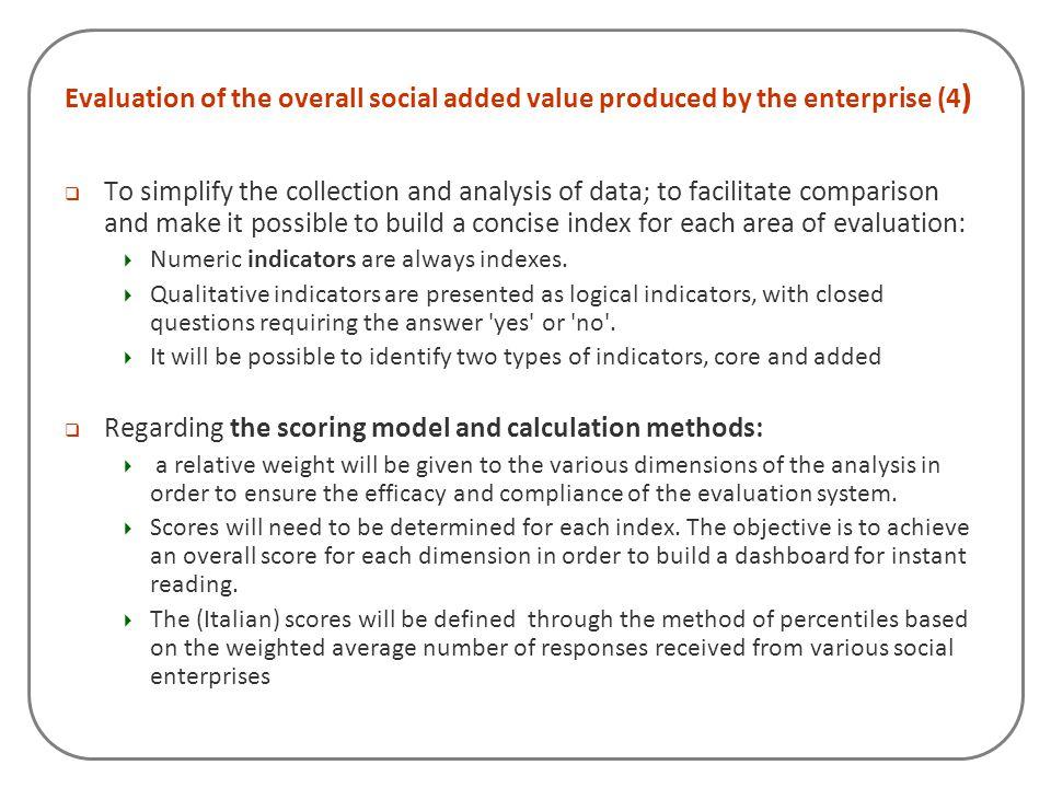 Regarding the scoring model and calculation methods: