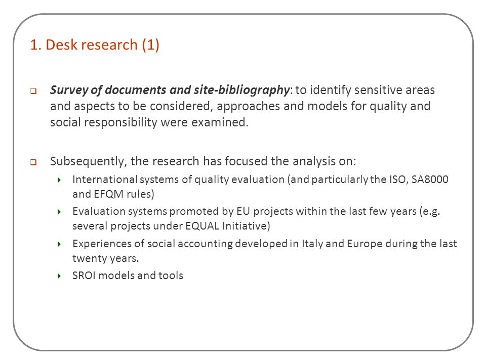 1. Desk research (1)