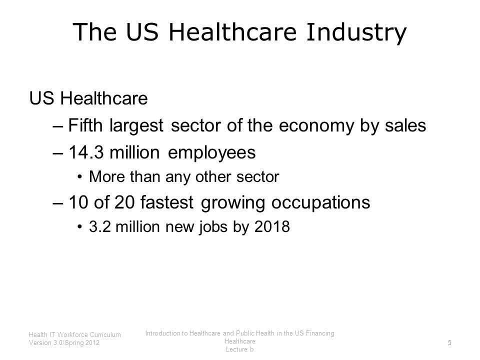 The US Healthcare Industry