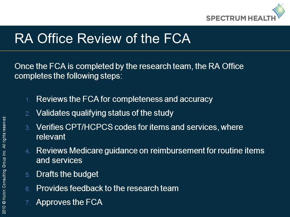 RA Office Review of the FCA