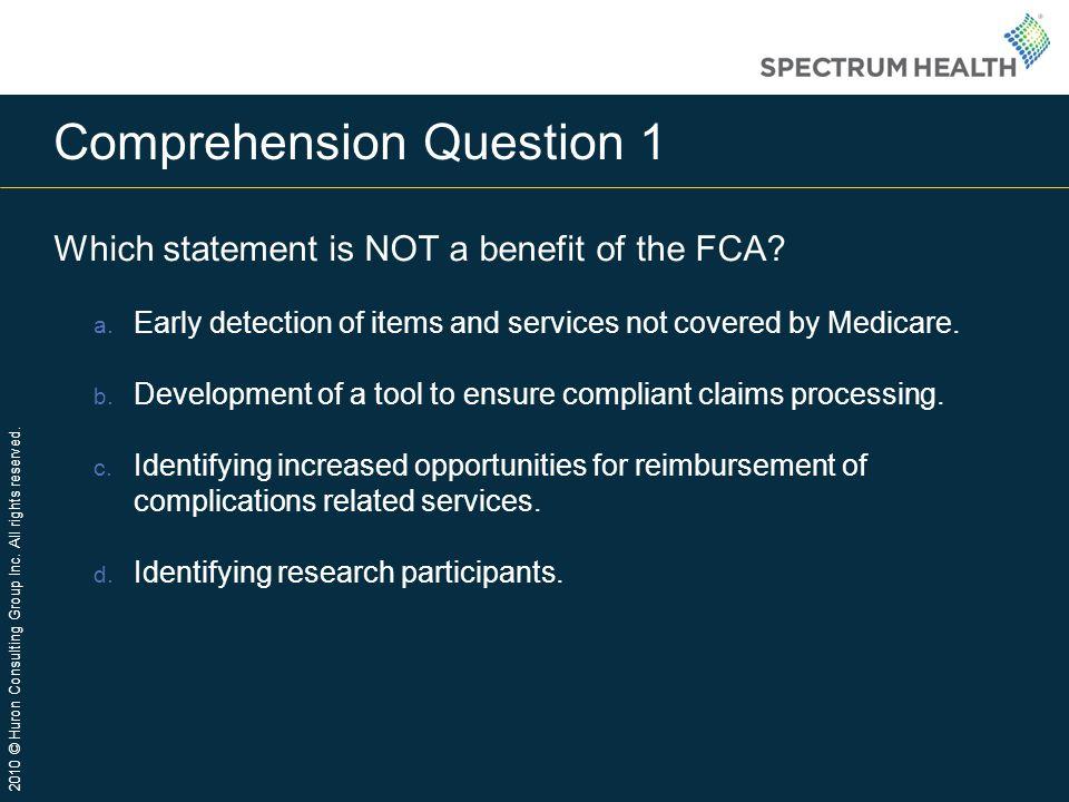 Comprehension Question 1