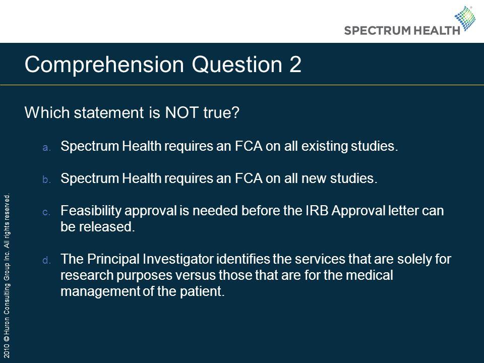 Comprehension Question 2