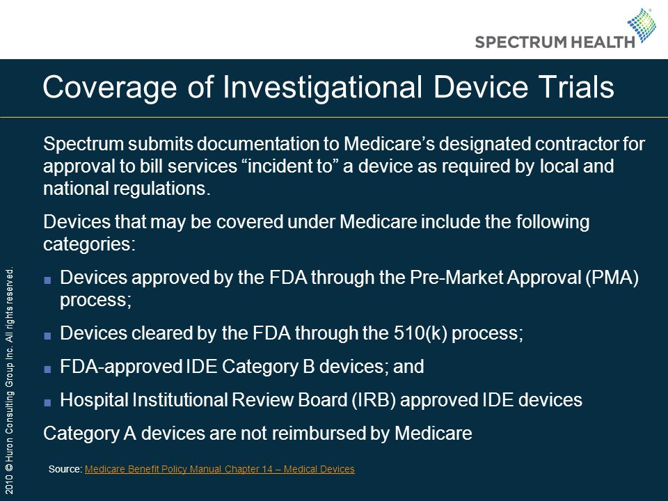 Coverage of Investigational Device Trials