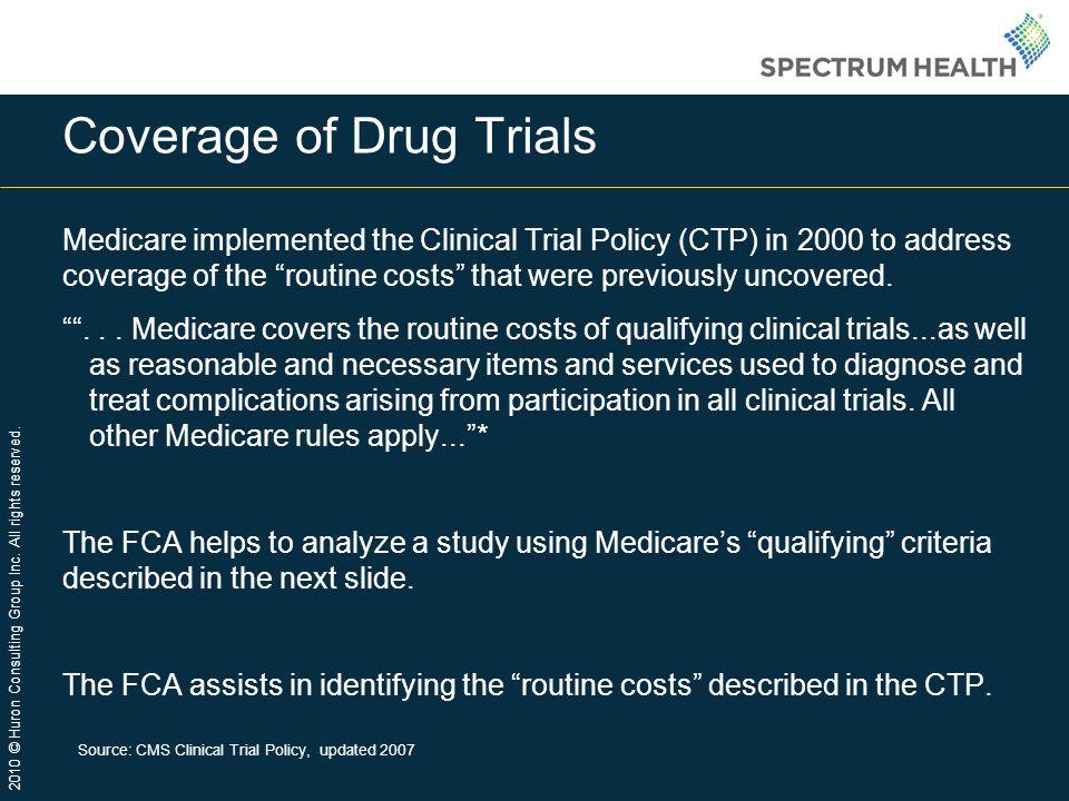 Coverage of Drug Trials