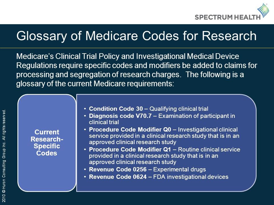 Glossary of Medicare Codes for Research