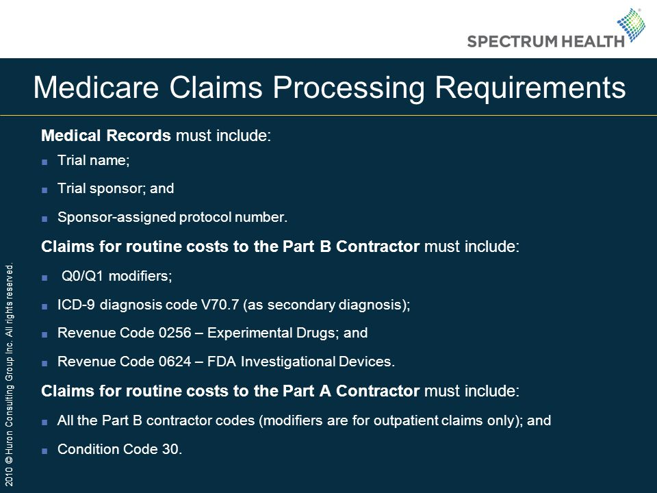 Medicare Claims Processing Requirements